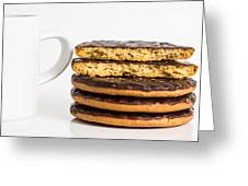 Coffee And Cookies. Greeting Card