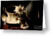 Coffee And Daisies  Greeting Card