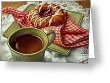 Coffee And Danish Greeting Card