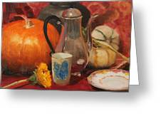 Coffee And Pumpkin Pie Greeting Card