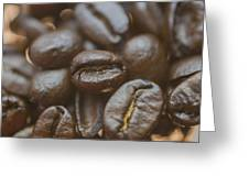 Coffee Bean Macro Greeting Card