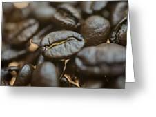 Coffee Beans Macro 3 Greeting Card
