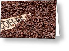 Coffee Beans Greeting Card