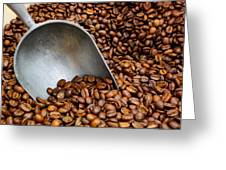 Coffee Beans With Scoop Greeting Card