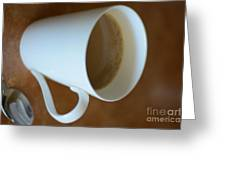 Coffee Cup 01 Greeting Card by Bobby Mandal
