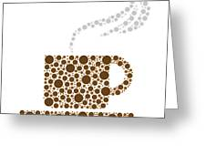 Coffee Cup Greeting Card by Aged Pixel