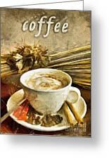 Coffee - Drawing Greeting Card