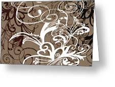 Coffee Flowers 1 Greeting Card