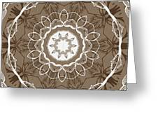 Coffee Flowers 1 Ornate Medallion Greeting Card
