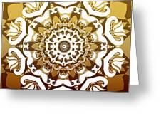 Coffee Flowers 10 Calypso Ornate Medallion Greeting Card