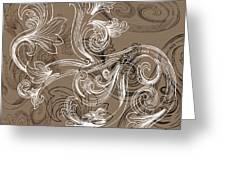 Coffee Flowers 2 Greeting Card