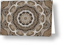 Coffee Flowers 2 Ornate Medallion Greeting Card