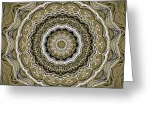 Coffee Flowers 2 Ornate Medallion Olive Greeting Card