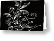 Coffee Flowers 4 Bw Greeting Card