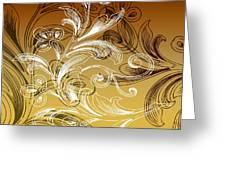 Coffee Flowers 4 Calypso Greeting Card
