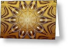 Coffee Flowers 4 Calypso Ornate Medallion Greeting Card