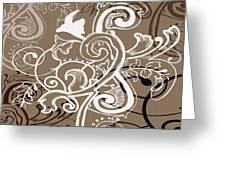 Coffee Flowers 5 Greeting Card