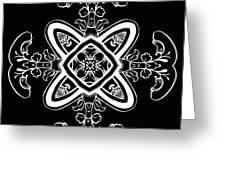 Coffee Flowers 5 Bw Ornate Medallion Greeting Card