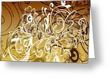 Coffee Flowers 7 Calypso Greeting Card