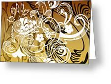 Coffee Flowers 8 Calypso Greeting Card