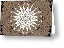 Coffee Flowers 9 Ornate Medallion Greeting Card