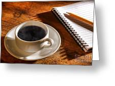 Coffee For The Writer Greeting Card