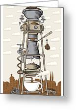 Coffee House In The City Greeting Card
