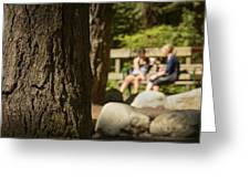 Coffee In The Park Greeting Card