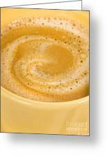 Coffee In Yellow Greeting Card