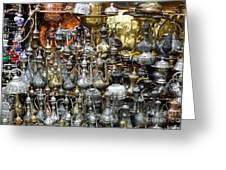 Coffee Pots At The Grand Bazaar In Istanbul Turkey Greeting Card