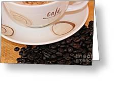 Coffee Rush Greeting Card