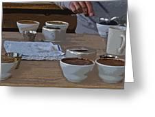 Coffee Tasting Greeting Card