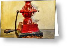 Coffee The Morning Grind Greeting Card