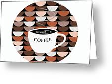 Coffee Time Greeting Card by Kenneth Feliciano