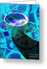 Coffee Time My Time 5d24472p168 Greeting Card