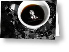 Coffee With Alfred Greeting Card