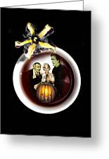 Coffee With The Munsters Greeting Card