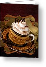 Coffee With Whipped Topping And Chocolates Greeting Card