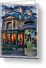 Coffeehouse - Belle Soiree Au Cafe Greeting Card