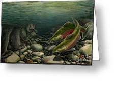 Coho Fishing Greeting Card