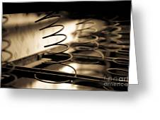 Coil Bed Springs Greeting Card