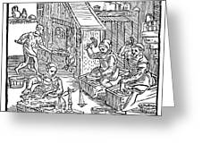 Coiners, 1577 Greeting Card