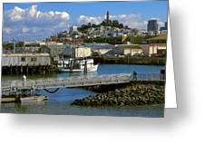 Coit Tower And Marina - San Francisco Greeting Card