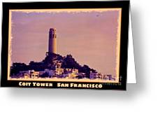Coit Tower Poster Greeting Card