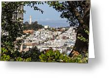 Coit Tower View Greeting Card