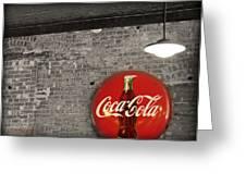 Coke Cola Sign Greeting Card