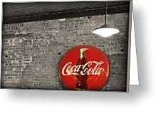 Coke Cola Sign Greeting Card