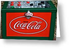 Coke Cooler Greeting Card