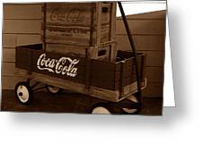 Coke Wagon Greeting Card