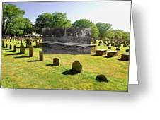 Col. Benjamin Church And Elisabeth Pabodie Gravesites In Little Compton Ri Greeting Card